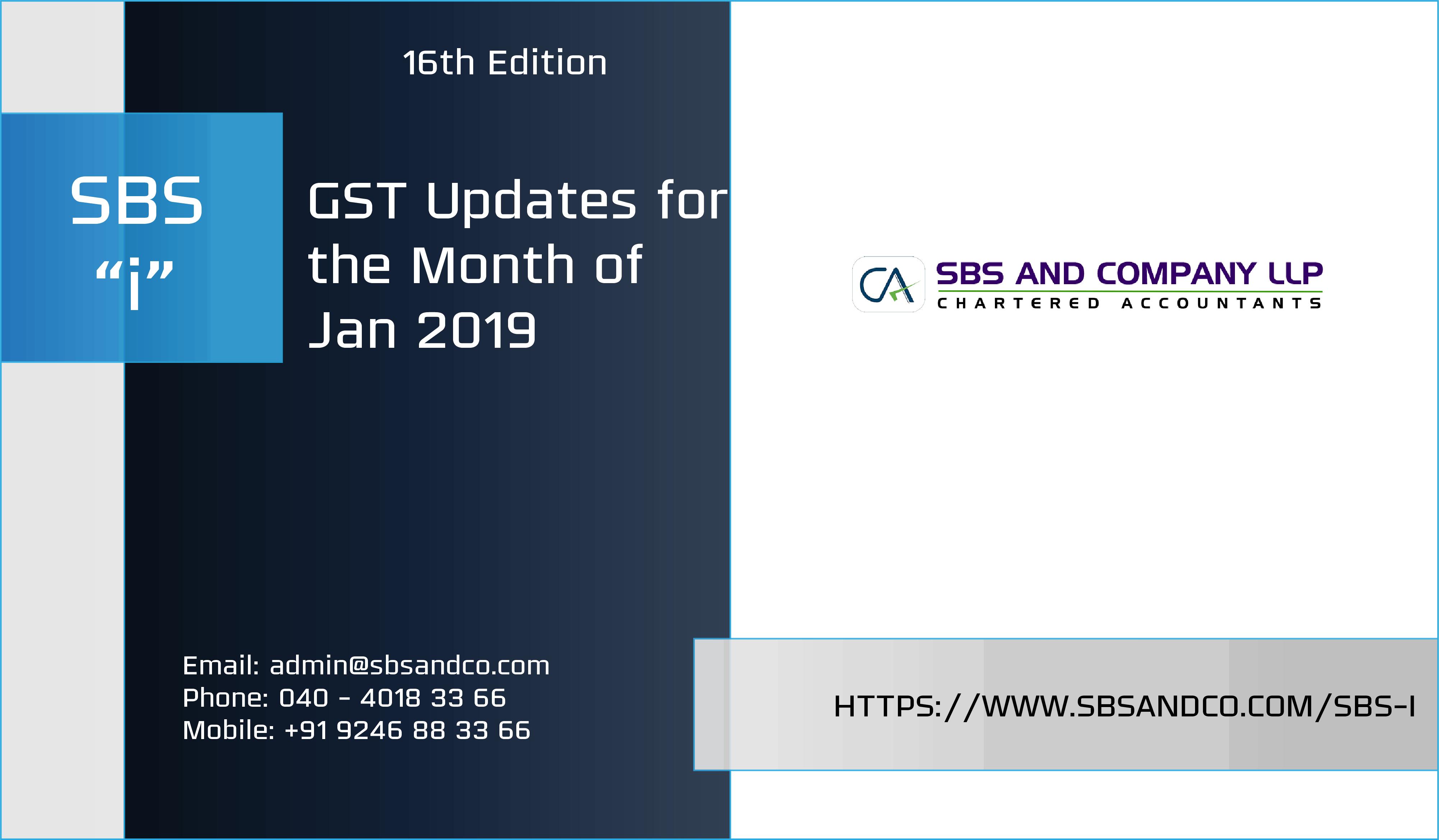 GST Rates Effective from Jan 2019 | GST Updates 2019 | GST