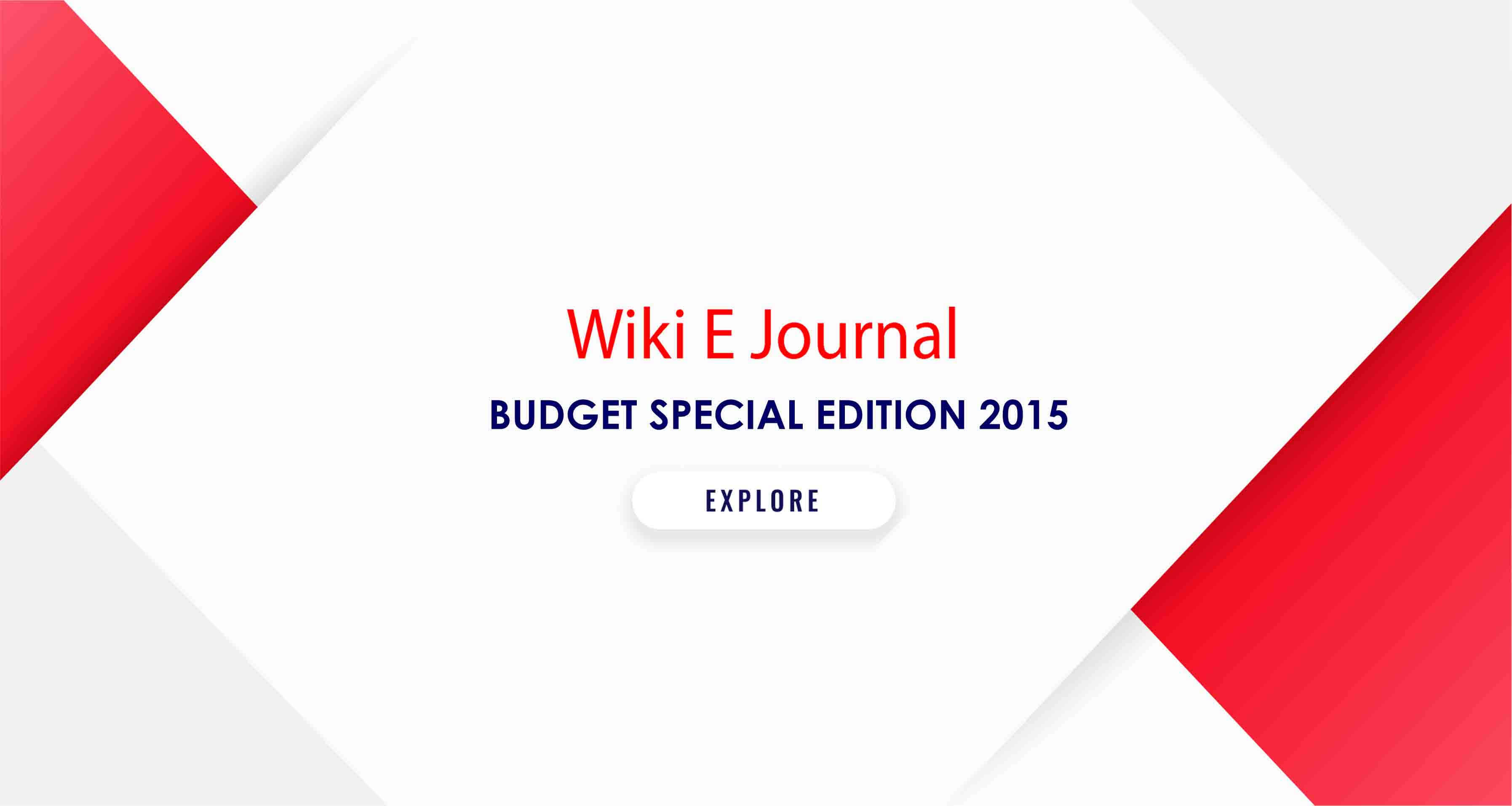 BUDGET SPECIAL EDITION 2015