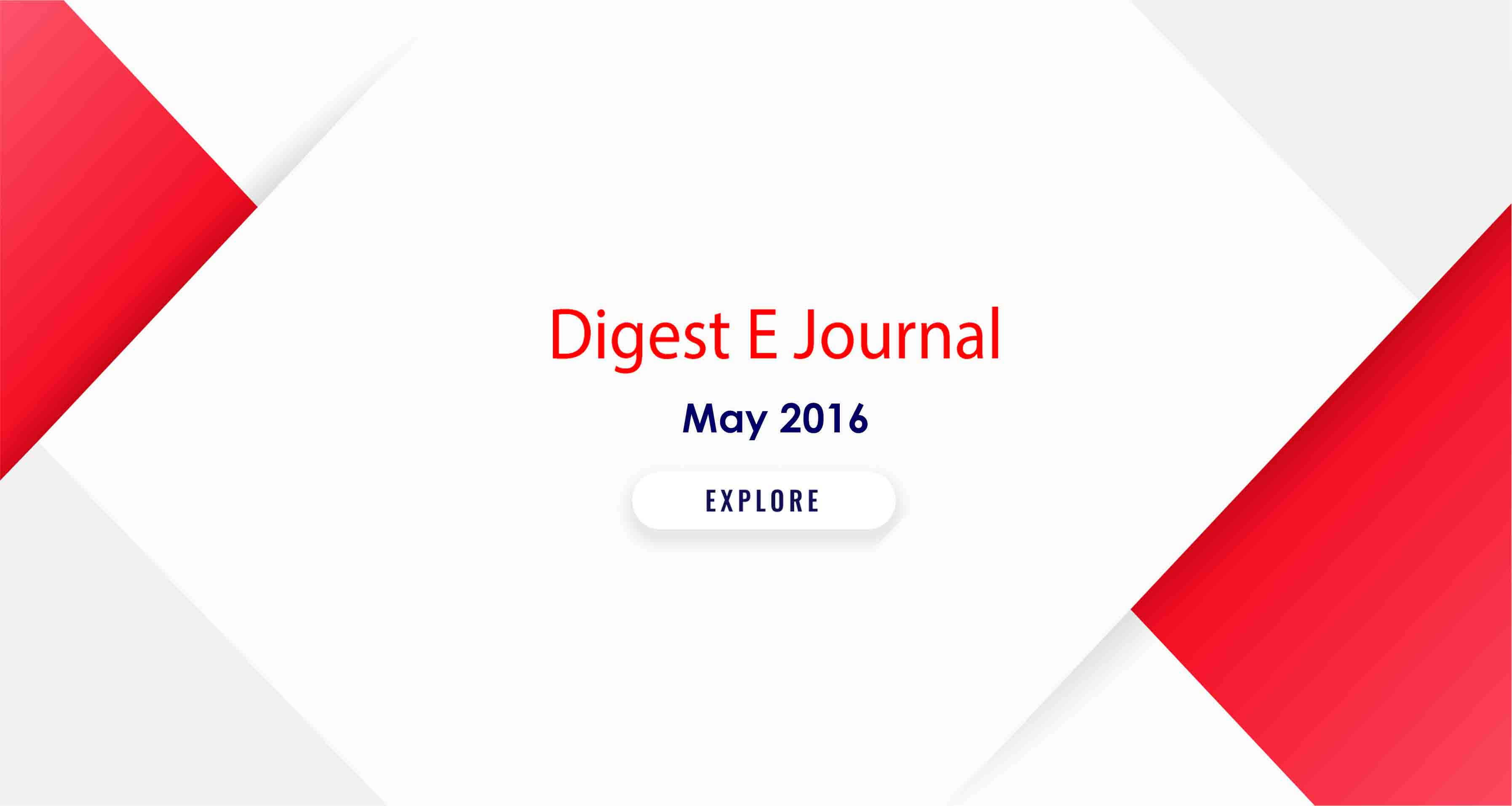 May 2016 INTERNS DIGEST