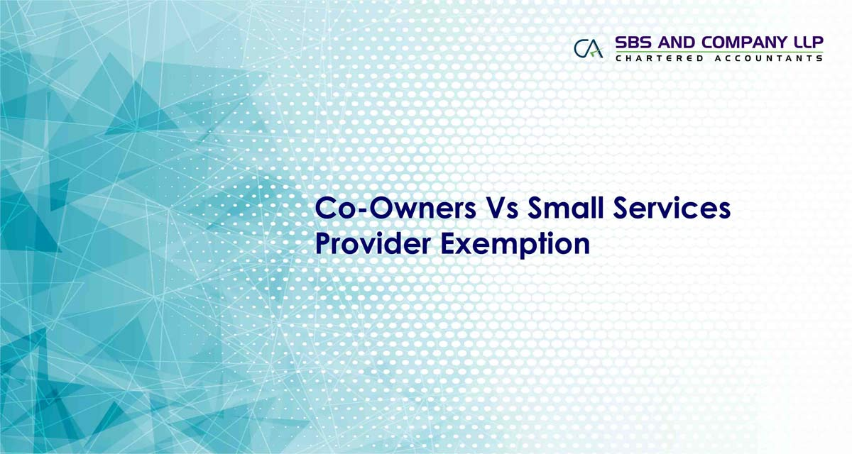 Co-Owners Vs Small Services Provider Exemption