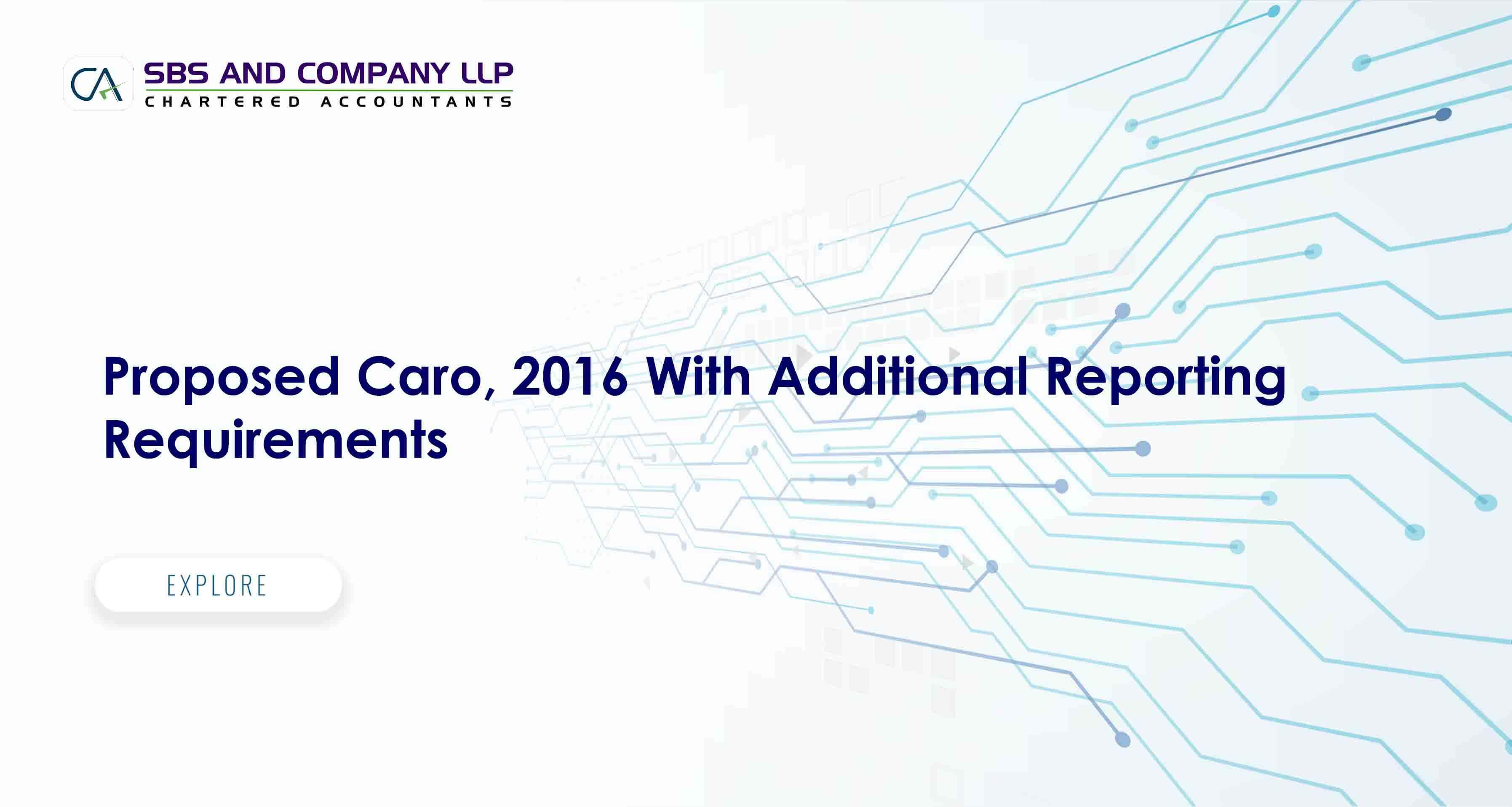 Proposed Caro, 2016 With Additional Reporting Requirements
